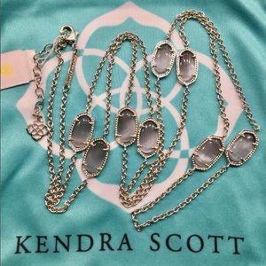 Kendra Scott Kelsie Silver Slate Cat's Eye